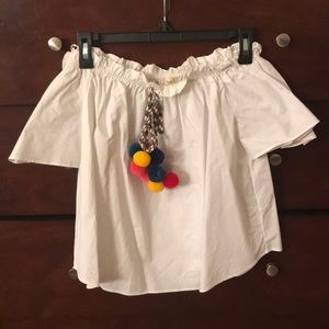Tops - White off the shoulder top